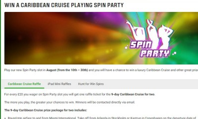 Unibet Casino Launches Caribbean Cruise Prize Draw