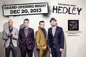 Hedley to Perform at Hard Rock Casino Opening