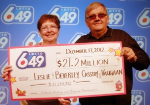 A couple in Vaughan, Ontario, have won a $21.2 million lottery jackpot and the prize has significantly brightened up their year.