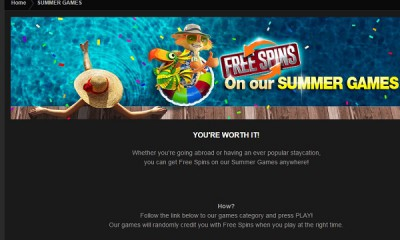 NetBet Offers Summer Games Free Spins All Month